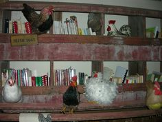 """A chicken """"brooder"""" holds my cookbook collection."""