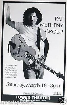 Pat Metheny Group 1994 Philadelphia Concert Tour Poster