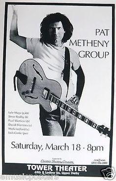Pat Metheny Group 1994 Philadelphia Concert Tour Poster