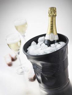 Seau à Champagne en porcelaine Froissés blanc ou noir Revol