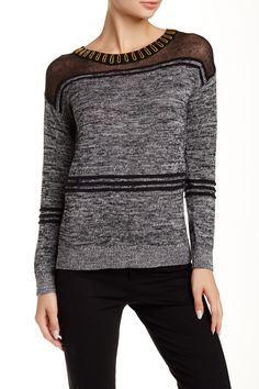 One Grey Day | Aaron Mixed Knit Sweater | Sponsored by Nordstrom Rack.