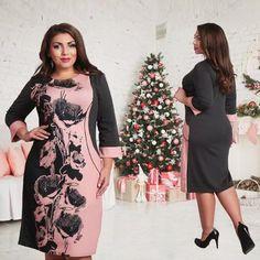Fashionable Elegant Plus Size Bodycon Dress