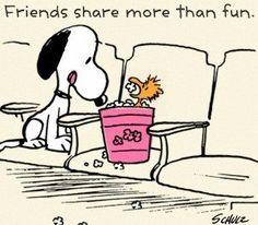 Friends share more than fun. #Peanuts