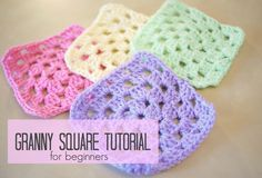 crochet granny square beginner step by step  Bella Coco mycrafts.com/diy/crochet-how-to-crochet-a-granny-square-for-beginners-bella-coco/