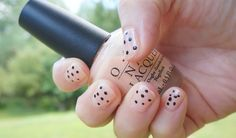 Nude nails with polka dots! Details on the blog | www.sookiespartan.com