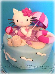 Hello Kitty on the Beach Cake ~ Silvia Mancini Cake Art
