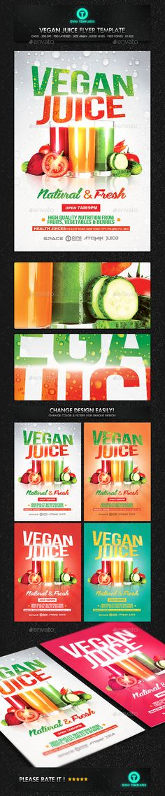 Vegan Smoothie Drink Flyer Template - Miscellaneous Events