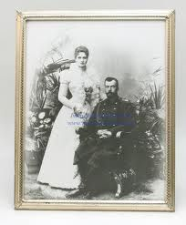 Official wedding portrait of Nicholas and Alexandra on Nov. 26 1894 at The Winter Palace, St. Petersburg