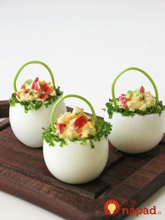"Delicious Cracked Deviled Eggs Chicks Recept Homesteading - The Homestead Survi ., Delicious Cracked Deviled Eggs Chicks Recept Homesteading - The Homestead Survival .Com ""Deel deze pin alstublieft"". Easter Recipes, Egg Recipes, Appetizer Recipes, Holiday Recipes, Cooking Recipes, Holiday Appetizers, Brunch Recipes, Dessert Recipes, Cute Food"