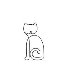 #oneLineDraw #catDraw by Niuskary Castellano