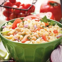 Gooseberry Patch Recipes: Tomato-Garbanzo Salad. Fresh tomatoes and hearty garbanzo beans combine to make one of the best salads we've had.