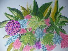 Modern Flower Painting. www.artonthemoon.com