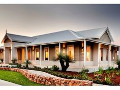 TR Home Designs: The Grevillea Grove. Visit www. to find your ideal home design in Western Australia. Same exterior colours. Kit Homes Australia, Australia House, Western Australia, Facade House, House Facades, Corner Designs, Exterior Colors, Home Builders, Ideal Home