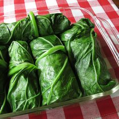 Cajun Inspired Stuffed Collard Rolls - 1 bunch of large collard greens - bacon - 1 lb. ground pork - red bell pepper - medium yellow onion - garlic clove - cayenne - dried thyme - sweet paprika - cooked rice - canned diced tomatoes - apple cider vinegar - Cajun Recipes, Pork Recipes, Vegetable Recipes, Cooking Recipes, Healthy Recipes, Oven Recipes, Easy Cooking, Easy Recipes, Barbecue Recipes