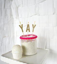 Cake Topper  YAY by BluebirdSupply on Etsy