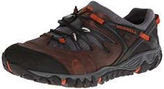 Merrell Mens All Out Blaze Stretch Waterproof Hiking ShoeBrown75 M US -- Want additional info? Click on the image.