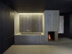 "Lilitt Bollinger Studio and Alma Maki Architekten - House renovation, Ebligen 2014. The contrasting interiors spaces causes the ""white room"" to feel like a gallery, with chunks of the existing..."