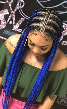 43 Cool Blonde Box Braids Hairstyles to Try - Hairstyles Trends Feed In Braids Hairstyles, Braids Hairstyles Pictures, Braided Hairstyles For Black Women, Hair Pictures, Dreadlock Hairstyles, Updo Hairstyle, Blonde Box Braids, Long Braids, Braids For Black Hair
