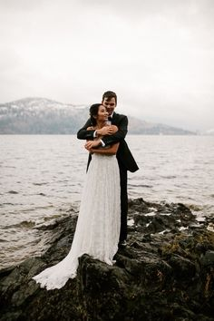 This Kelowna fall lakeside elopement was filled with the most beautiful fall florals, a sweet couple and lots of cuddles to stay warm in the crisp air. Vogue Wedding, Sweet Couple, Love And Marriage, Most Beautiful, Couple Photos, Fall, Photography, Couple Shots, Autumn