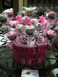 Cupcake cake pop arrangement