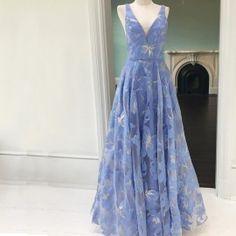 ded9f67ef20 Light Grey Prom Dress - A-line V-neck Long Sleeves Floor-Length with ...