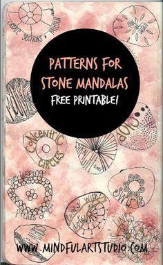 Free Printable Patterns For Stone Mandalas Mandala Rock Art Dot Art Painting Rock Painting Patterns