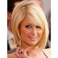 włosy kitka z grzywka   Fryzura Paris Hilton ?gt;