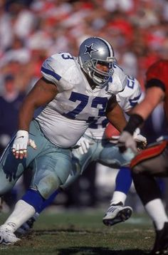 Larry Allen, 1994 - 2005, played 176 games, position Offensive Line. Allen started at least one season at every offensive position except for center. He made the pro Bowl every year from 1998 - 2000 and 2002 - 2005, more that ant other offensive player in Cowboys history. He once bench pressed 692 pounds, making him, if nothing else, a really strong dude. In his day he was the man.
