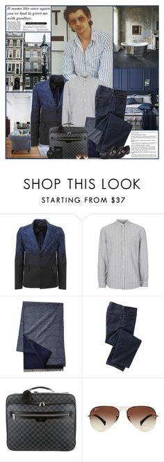"""Alex"" by kittyfantastica ❤ liked on Polyvore featuring AllSaints, Vivienne Westwood Man, Topman, TravelSmith, Louis Vuitton, Ray-Ban, Calvin Klein, Gucci, men's fashion and menswear"