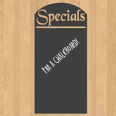 Menu Board Daily Specials Chalkboard Sign Vinyl Wall Sticker Decal x Wall Stickers Room, Removable Wall Stickers, Wall Decal Sticker, Chalkboard Stickers, Chalkboard Signs, Chalkboards, Vinyl Signs, Wall Signs, Family Tree Wall Sticker