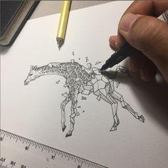 Geometric Beasts | Giraffe