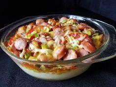 Pølse og mos i form - Fra mitt kjøkken Good Food, Fun Food, Fruit Salad, Potato Salad, Salsa, Food And Drink, Baking, Ethnic Recipes, Desserts
