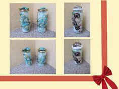 Frascos/Potes de Vidro Decorados com Flores de Tecido. Castiçais/Porta Velas. Artesanato e Reciclagem. Uma ótima prenda para as Madrinhas, as Avós, ... e para o Dia da Mãe. Com Passo a Passo.