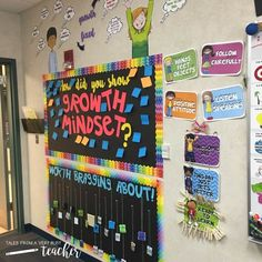 Three Ways to Implement Growth Mindset in the Classroom - Perfect for elementary school teachers who want to encourage their students to always have a positive growth mindset with activities, lessons, and classroom decor such as posters and bulletin boards.