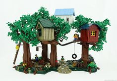 Not just a treehouse, a whole town in the leafy canopy