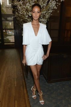 Rosie, Joan, and Kate Lead This Weeks Top 10: Joan Smalls was a vision in a draped white minidress at the Condé Nast Toast to Editors party in NYC.