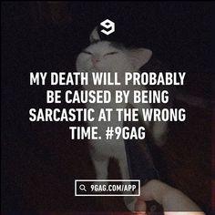 "484.6k Likes, 7,551 Comments - 9GAG (@9gag) on Instagram: """"What you gonna do? Stab me?"" Follow @9gag  #9gag #sass"""