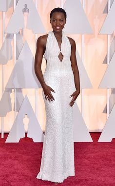 The bodice of Lupita Nyong'o's Calvin Klien Collection Oscar dress was made of 6,000 pearls.