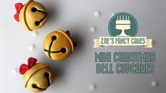 In this video tutorial I show you how to make mini christmas bell cupcake decorations for Xmas. I created these Christmas cupcakes using fondant / roll out i. Mini Christmas Cakes, Christmas Cake Topper, Christmas Bells, Christmas Baking, Christmas Cookies, Cake Pops, Zoes Fancy Cakes, Diy Xmas, Cupcake Videos