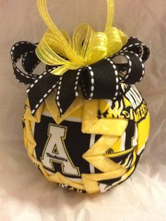 Appalachian State University Mountaineers Inspired Quilted Christmas Ornament. $18.00, via Etsy.
