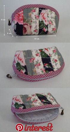 53 trendy Ideas sewing bags and purses tutorial zipper pouch Zipper Pouch Tutorial, Purse Tutorial, Patchwork Bags, Quilted Bag, Bag Patterns To Sew, Sewing Patterns, Bag Quilt, Pochette Diy, Diy Bags Purses