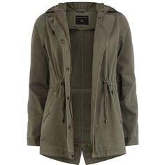 Khaki short parka jacket ($79) ❤ liked on Polyvore featuring outerwear, jackets, coats, tops, khaki, short jacket, short parka, parka jacket, cotton jacket and lightweight jackets