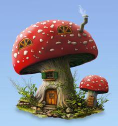 Magic Mushroom 3 by waltervermeij.deviantart.com on @DeviantArt