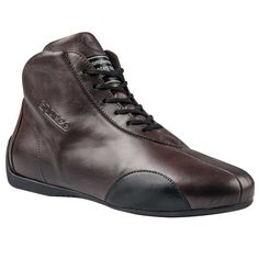 IC//782 OMP CARRERA VINTAGE RACING BOOTS CLASSIC LEATHER STYLE 2 COLOURS