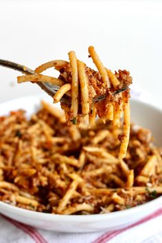The Best Bucatini Bolognese you will ever eat! Full of flavor and rich texture, it's a labor of love that is so worth the effort to make for its comfort and enjoyment. Greek Recipes, Grilling Recipes, Pasta Recipes, Italian Recipes, Dinner Recipes, Cooking Recipes, Italian Foods, Dinner Ideas, Kitchens