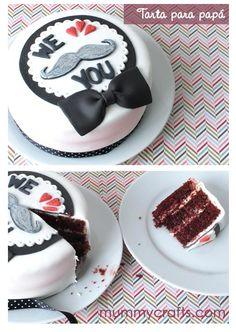 Recetas dulces para el Día del Padre: tortitas, cupcakes, tartas y galletas. Detalles muy especiales Baby Cakes, Sweet Cakes, Cupcake Cakes, Happy Fathers Day Cake, Mothers Day Cake, Cake For Husband, Doughnut Cake, Cakes For Boys, Love Cake