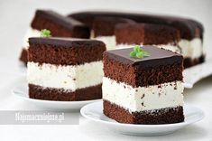 Milky Way cake, cake for children, najsmaczyszne. Polish Desserts, Polish Recipes, Milky Way Cake, Cake Recipes, Dessert Recipes, Milk Cake, Food Cakes, No Bake Cake, Delicious Desserts