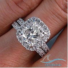 Cathadrel Shank Princess Cut Diamond Engagement Bridal Ring Set Size 5 11
