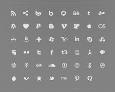 Here is a font to type out your social media icons in any color you want plus 10+ Resources for Social Media Icons - Volume II {5+5 Fridays}