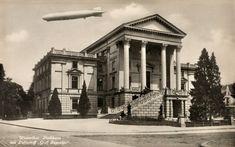 1931 Zeppelin über dem Stadthaus